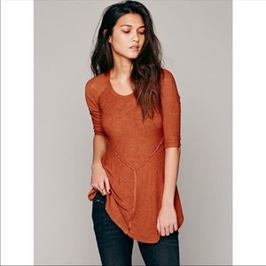 free people rust colored top tunic intimately